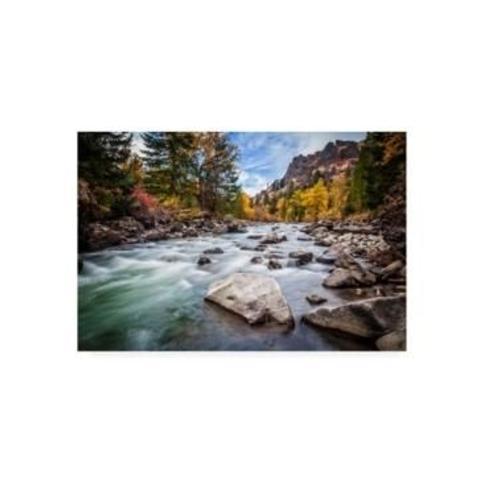 "Michael Broo Teton River Rush Canvas Art - 19.5"" x 26"""