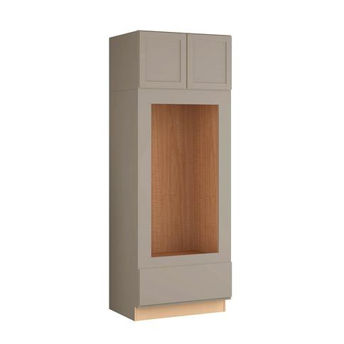 Hampton Bay Courtland Sterling Gray Finish Laminate Shaker Stock Assembled Double Oven Kitchen Cabinet 33 In X 90 In X 24 In Yahoo Shopping