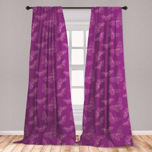 "East Urban Home Entomology Room Darkening Rod Pocket Curtain Panels FCNI4785 Size per Panel: 28"" x 84"""
