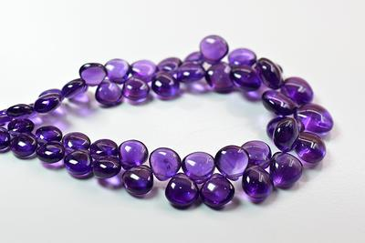 Pink Amethyst Beads Pink Amethyst Heart Shape Beads Natural Pink Amethyst Faceted Briolette Amethyst Gemstone 7-8 MM Size 7 Strand