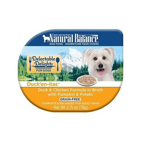 Natural Balance Delectable Delights Duck'en-itas Grain-Free Wet Dog Food, 2.75-oz, case of 24