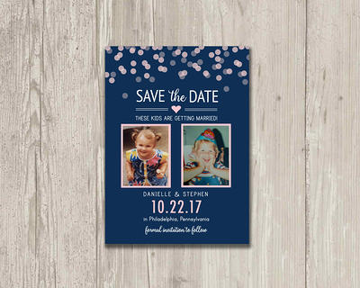 Panoramic Photo Printable and Personalized Wedding Save-the-Date 9.25x4