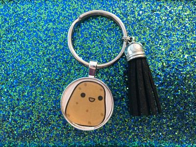 Rat keychain or necklace or retractable ID badge clip Free shipping Gift