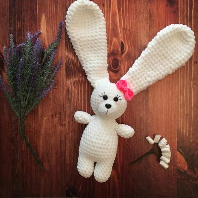 Crochet bunny Amigurumi toy Softie Stuffed bunny Baby shower gift Fluffy white bunny Child gift Stuff toy rabbit Easter bunny Stuffed animal