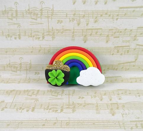 St Patty\u2019s Day Bow Pot Of Gold Bow Green Bow