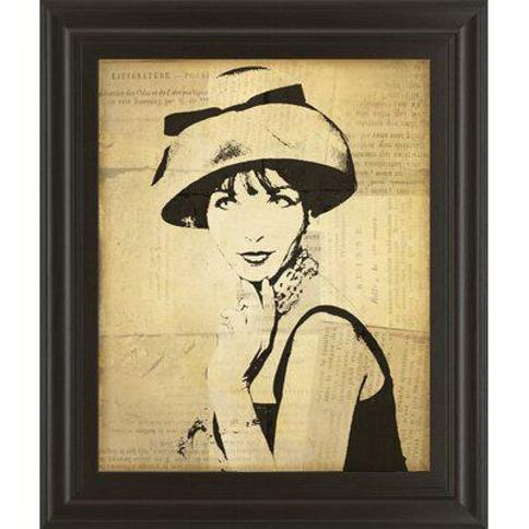 Classy Art Wholesalers Fashion News I by Wild Apple Graphics Framed Graphic Art 8022