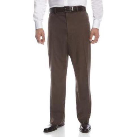Haggar Heather Brown Big & Tall Cool 18 PRO Classic Fit Flat Front Pants