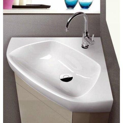 "CeraStyle by Nameeks Arda Ceramic 26"" Corner Bathroom Sink CeraStyle 001900-U"
