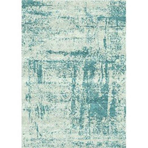 Bloomsbury Market Faunsdale Hand-Loomed Viscose Gray/Gumbo Blue Area Rug X112509974 Rug Size: Rectangle 8' x 10'