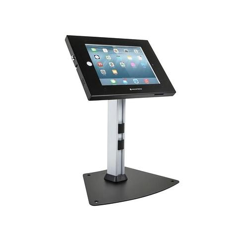 Safe and Secure Tablet Desktop Display Stand - Black For iPad 2-4 and iPad Air