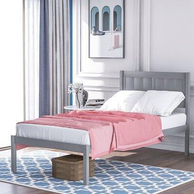Harriet Bee Khoyank Twin Platform Bed X115382730 Bed Frame Color Gray Yahoo Shopping