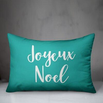 The Holiday Aisle Framlingham Joyeux Noel Lumbar Pillow Polyester Polyfill Polyester Polyester Blend In Teal Size 14x20 Wayfair Yahoo Shopping