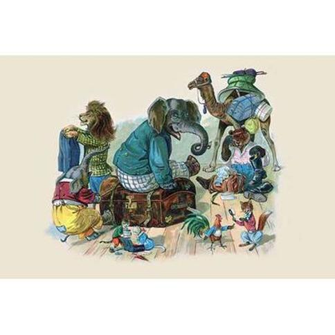 Buyenlarge 'The Next thing they had to do was to Start Packing' by G.H. Thompson Painting Print 0-587-22474-6