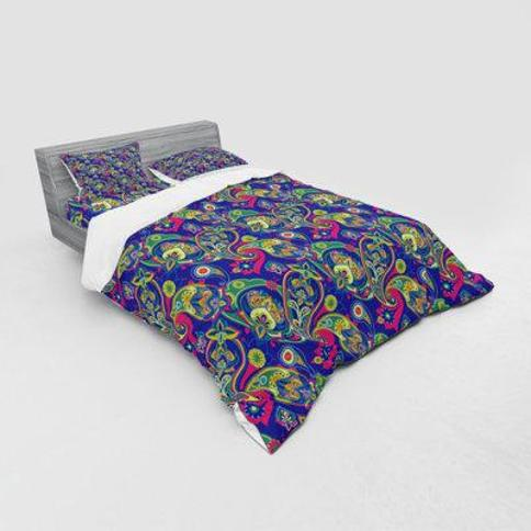 East Urban Home Classic Persian Jacquard Boteh Ik at Motifs Old Welsh Pears Artwork Duvet Cover Set FCKH6251 Size: Twin Duvet Cover + 2 Additional Pieces