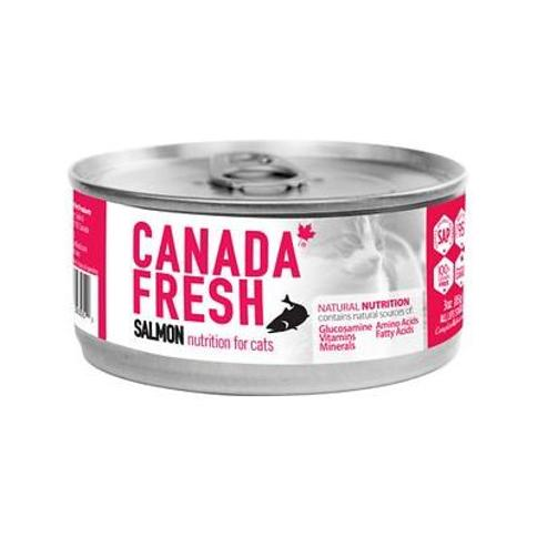 Canada Fresh Salmon Canned Cat Food, 3-oz, case of 24