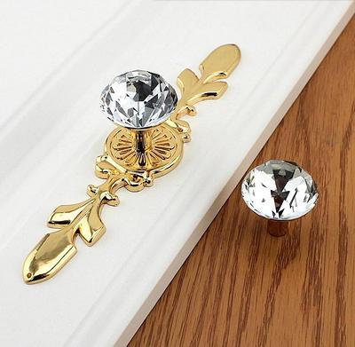 Floral Crystal Knob Rhinestone Glass Knobs Dresser Knob Drawer Knobs Pulls Handles Flower Cabinet Door Knobs Pull Handle Gold Silver Bling