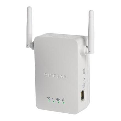 NETGEAR N300 Wall-Mount WiFi Range Extender, White
