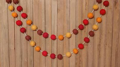 Bunting FREE SHIPPING USA 2cm 25 or 50ct Felt Ball Garland or Loose Pack Pom Pom Second Grade Valentine