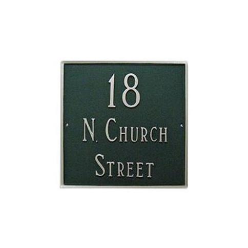 Montague Metal Products Inc. Classic 3-Line Wall Address Plaque PCS-42G Finish: Sea Blue/Silver