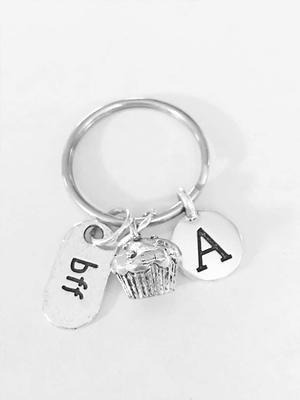 Wine Bottle Keychain Sister Gift Wedding Gift Keychain Best Friend Keychain Wine Glass Keychain