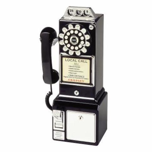 Crosley 1950s Payphone, Black
