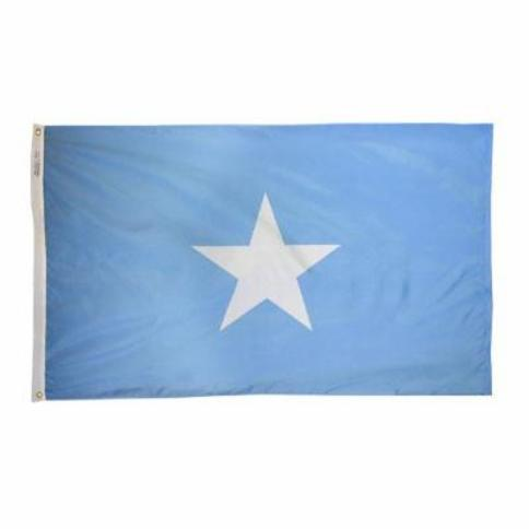 Somalia Dyed Indoor Outdoor International Nylon Flag Grommets 3' X 5'