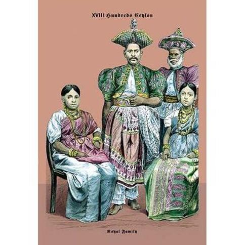 """Buyenlarge Royal Family of Ceylon 19th Century by Richard Brown Painting Print 0-587-03773-3 Size: 36"""" H x 24"""" W x 1.5"""" D"""
