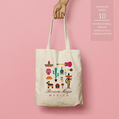 Mexico Wedding Tote Bag Guest Bags for Hotel Destination Wedding in Mexico Fiesta Wedding Favors for Wedding Hotel Welcome Bags