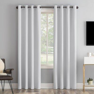 Sun Zero Tyrell Tonal Texture Draft Shield Fleece Insulated Solid 100 Blackout Thermal Grommet Liner Curtain Size Per Panel 50 W Polyester Yahoo Shopping