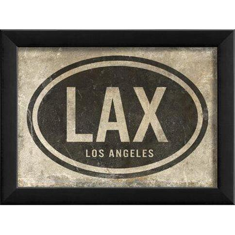 The Artwork Factory LAX Los Angeles Airport Code Framed Textual Art 91611
