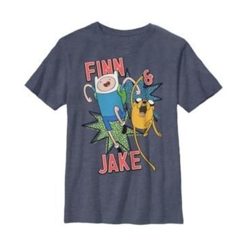 Fifth Sun Cartoon Network Big Boy's Adventure Time Finn and Jake Best Buds Short Sleeve T-Shirt