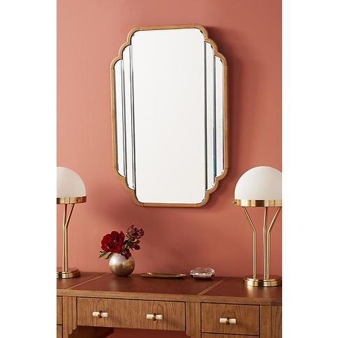 Soho Home x Anthropologie Oak Deco Mirror By Soho Home x Anthropologie in Beige Size M