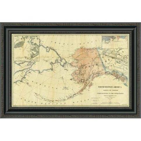 "East Urban Home 'Northwestern America Showing the Territory Ceded By Russia to the United States; 1867' Framed Print FVBI3517 Size: 13.625"" H x 22"" W x 1.5"" D"