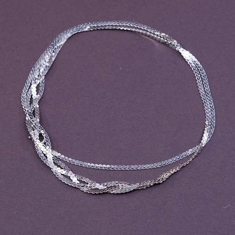 Sterling Silver S Link Necklace Chain