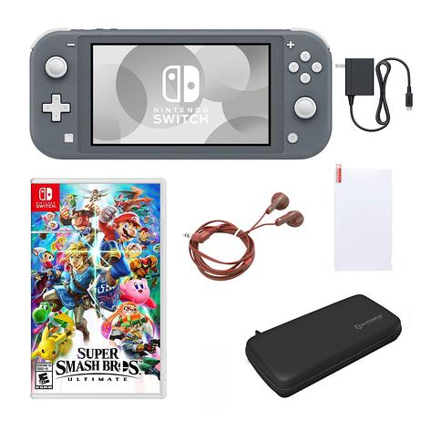 Nintendo Switch Lite with Super Smash Bros & Accessories