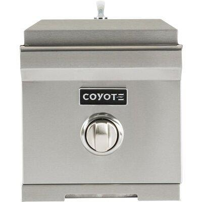 Coyote Grills 1 Burner Built In Flat Top Natural Gas Grill With Side Burner Cc1sbng Yahoo Shopping
