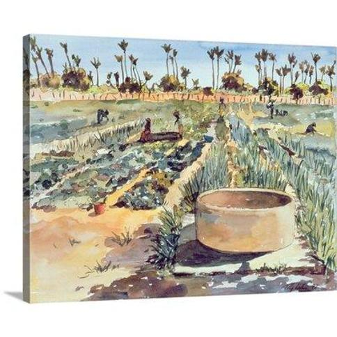 "Canvas On Demand The Women's Garden Senegal West Africa 1997 by Tilly Willis Painting Print on Canvas 2361874_24_20x16_none / 2361874_24_30x24_none Size: 24"" H x 30"" W x 1.25"" D"