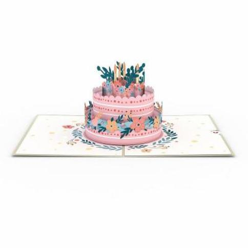 """Lovepop ""Floral Birthday Cake"" Greeting Card"""