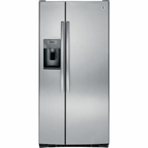 GE GSE23GK 33 Inch Wide 23.2 Cu. Ft. Energy Star Rated Side-By-Side Refrigerator Stainless Steel
