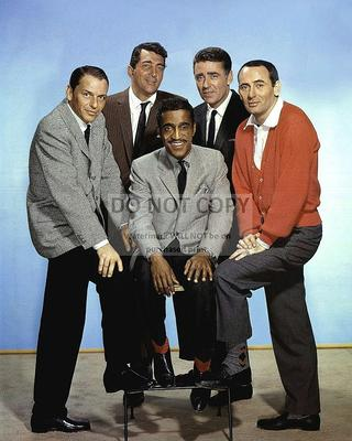 EP-514 JOHNNY CARSON RAT PACK DEAN MARTIN FRANK SINATRA SAMMY DAVIS 8X10 PHOTO