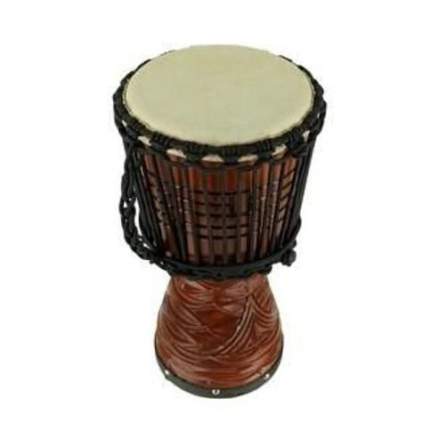 Hand Carved Wood Djembe Hand Drum 16 Inch Tall (Brown - 15.75 X 8.75 X 8.75 inches)