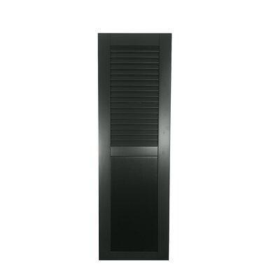 Shutters By Design Rockbridge Louver Flat Panel Combination Shutter Single Wood In Black Forest Green Size 52 H X 18 W Wayfair Rbl Fp1852bfg Yahoo Shopping