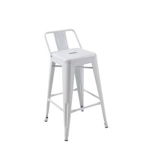 """Wrought Studio Perry 30"""" Bar Stool (Set of 4) X111945897 Color: White"""
