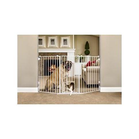 Carlson Pet Products Flexi Extra Tall Walk-Thru Gate with Pet Door