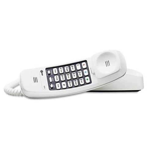 AT&T 210W Trimline Corded Phone Hearing Aid Compatible With 3 One-Touch Memory Buttons