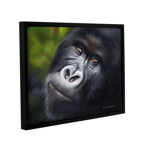 Sarah Stribbling's ' Mountain Gorilla' Gallery Wrapped Floater-framed Canvas