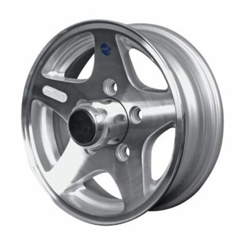 Martin Wheel Aluminum Star Mag 12Inch Trailer Wheel - Rim Only, Fits Tire Sizes 480 x 12, 530 x 12, 5-Hole, Model R-125-ASM