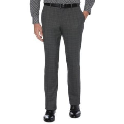Perry Ellis Men's Slim-Fit Non-Iron Performance Stretch Plaid Dress Pants