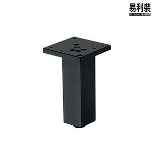 【 EASYCAN 】桌腳 F35_10cm (黑色) DIY 櫥櫃腳 餐桌腳 鞋櫃腳 輔助腳 沙發腳 調整腳 平衡腳【易利裝】