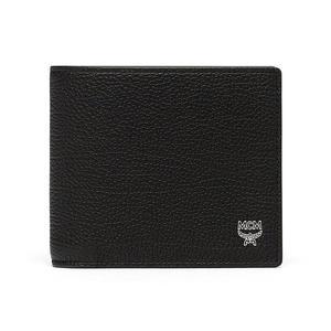 MCM Otto Grained 對折短夾 皮夾 素面 黑色